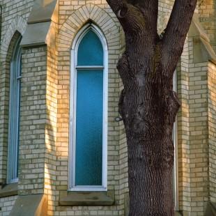 Blue Church Window